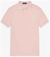 Picture of Fred Perry Polo Shirt M3600 Silver Pink/Snow White
