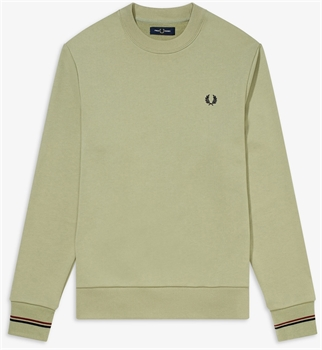 Picture of Fred Perry Sweatshirt Crew Neck Light Sage