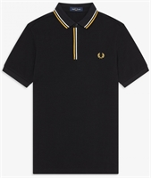 Picture of Fred Perry Polo Shirt Tipped Placket Black