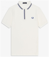 Picture of Fred Perry Polo Shirt Tipped Placket Snow White
