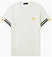 Picture of Fred Perry T-Shirt Abstract Cuff Snow White