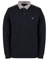 Picture of Weekend Offender Long Sleeved Polo Shirt Bentvena Navy