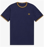 Picture of Fred Perry T-Shirt Twin Tipped Carbon Blue