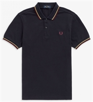 Picture of Fred Perry Polo Shirt M3600 Navy / Champagne / Mahogany