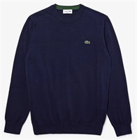 Picture of Lacoste Knitwear Organic Cotton Crew Neck Navy Blue