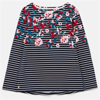 Picture of Joules Top Harbour Navy Floral Stripe