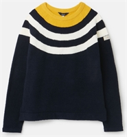 Picture of Joules Jumper Seaport Navy Block Stripe