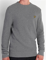 Picture of Lyle & Scott Knitwear Basket Weave Mid Grey Marl