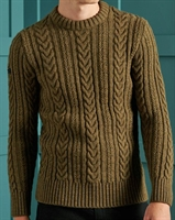 Picture of Superdry Knitwear Jacob Cable Crew Cedar Moss Twist