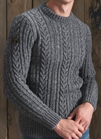 Picture of Superdry Knitwear Jacob Cable Crew Basalt Grey Twist