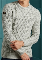 Picture of Superdry Knitwear Jacob Cable Crew Concrete Twist