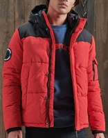 Picture of Superdry Jacket Quilted Everest High Risk Red
