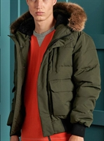 Picture of Superdry Jacket Everest Quilted Bomber Khaki