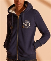 Picture of Superdry Ladies Hoody Established Zip Hoodie Nautical Navy