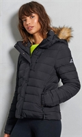 Picture of Superdry Ladies Jacket Classic Faux Fur Fuji Black