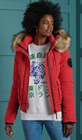 Picture of Superdry Ladies Jacket Everest Bomber High Risk Red