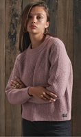 Picture of Superdry Ladies Knitwear Freya Tweed Crew Candy Tweed Pink