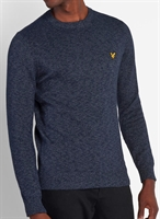 Picture of Lyle & Scott Knitwear Mottled Jumper Dark Navy