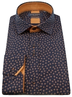 Picture of Guide London Shirt LS75804 Navy/Tan
