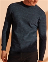Picture of Superdry Knitwear Orange Label Crew Nightwatch Navy Grit