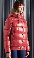 Picture of Superdry Ladies Jacket High Shine Toya Bomber Rouge Red