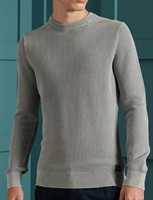 Picture of Superdry Knitwear Academy Dyed Texture Crew Washed Skylark