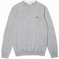 Picture of Lacoste Knitwear Organic Cotton Crew Neck Grey