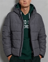 Picture of Superdry Jacket Sports Puffer Black Marl