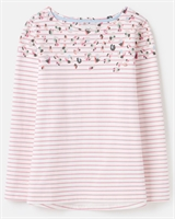 Picture of Joules Top Harbour Cream Pink Print