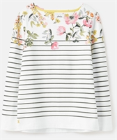 Picture of Joules Top Harbour Cream Green Stripe Floral