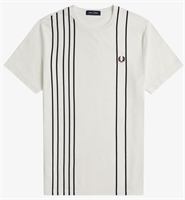 Picture of Fred Perry T-Shirt Refined Pique Striped Snow White