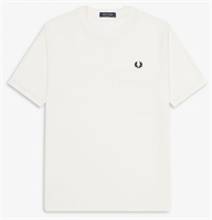 Picture of Fred Perry T-Shirt Pocket Detail Pique Snow White