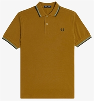 Picture of Fred Perry Polo Shirt M3600 Dark Caramel/Smoke Blue/Navy