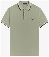 Picture of Fred Perry Polo Shirt M3600 Seagrass/Ecru/Navy