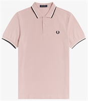 Picture of Fred Perry Polo Shirt M3600 Chalky Pink/Snow White/Navy