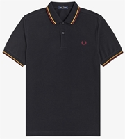 Picture of Fred Perry Polo Shirt M3600 Black/1964 Gold/Aubergine
