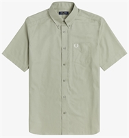 Picture of Fred Perry Shirt Short Sleeve Oxford Seagrass