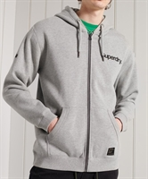 Picture of Superdry Hoody Military Graphic Zip Grey Marl