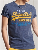 Picture of Superdry T-Shirt Vintage Logo Tri Navy Marl