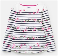 Picture of Joules Top Harbour Creme Floral Stripe