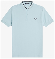 Picture of Fred Perry Polo Shirt Bomber Collar Chalk Blue