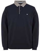 Picture of Weekend Offender Long Sleeve Polo Shirt Tavarez Navy