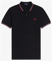 Picture of Fred Perry Polo Shirt M3600 Black/Glacier/Blood
