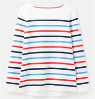 Picture of Joules Top Harbour Cream Navy Red Blue Stripe