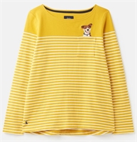 Picture of Joules Top Harbour Gold Cream Stripe