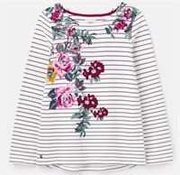 Picture of Joules Top Harbour Floral Placement Creme