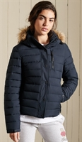 Picture of Superdry Ladies Jacket Classic Faux Fur Fuji Eclipse Navy