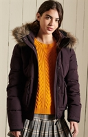 Picture of Superdry Ladies Jacket Everest Bomber Plum