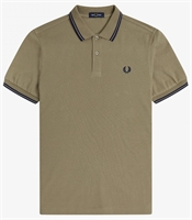 Picture of Fred Perry Polo Shirt M3600 Sage/French Navy
