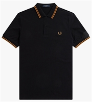 Picture of Fred Perry Polo Shirt M3600 Black/Dark Caramel